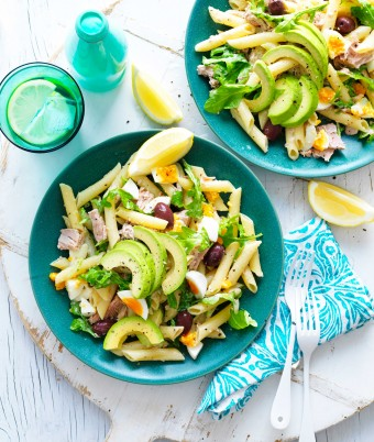 Avocado Tuna Pasta Salad
