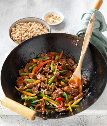 Beef, ginger and bean stir-fry Celebrate Health