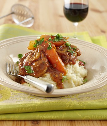 Braised osso bucco