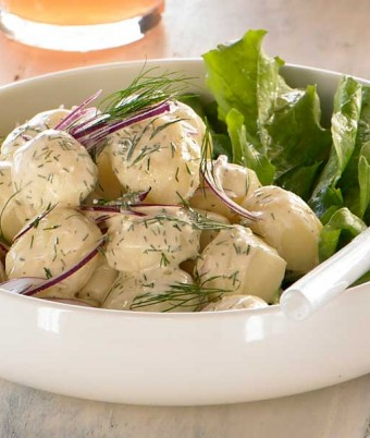 New Potato Salad with Fresh Dill & Sour Cream