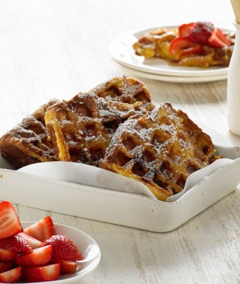 French Brioche with Marmalade Waffle