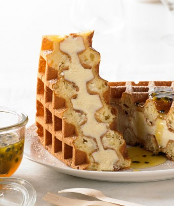 Lemon Ricotta Cheesecake Waffle