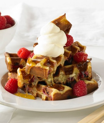 White Chocolate and Raspberry Waffle