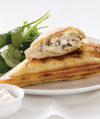 Chicken, Basil and Almond Jaffle