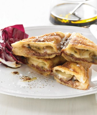 Garlic Mushrooms, Taleggio and Prosciutto Jaffle