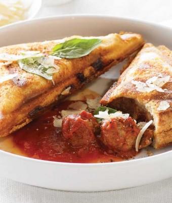 Italian Meatballs, Tomato and Parmesan Jaffle