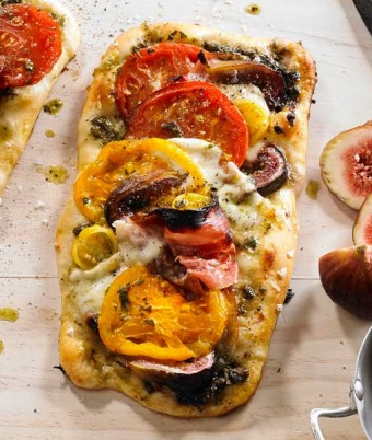 Tomato, Basil & Fig Pizza