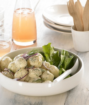 Baby Potato Salad With Sour Cream And Dijon Mustard