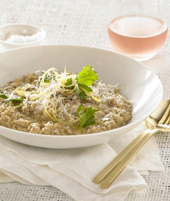 Cheesy Risotto With Mixed Mushrooms