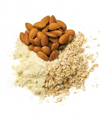 Oats and Whey Smoothie Topper - an easy protein boost recipe to top your smoothie