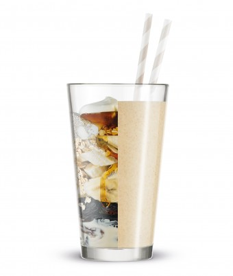 Quick peanut butter and honey smoothie recipe blended with Breville Boss to Go