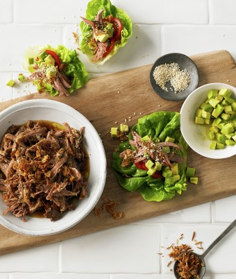 Pulled Lamb Lettuce Boats