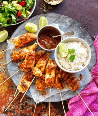 Best butter chicken recipe Australia with butter chicken skewers