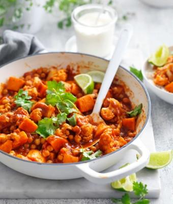 Chickpea and sweet potato vegetarian curry recipe