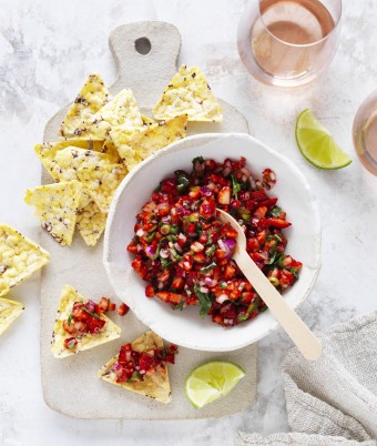 Spicy Strawberry and Jalapeno Salsa