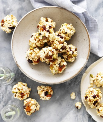Fruit and Nut Popcorn Balls