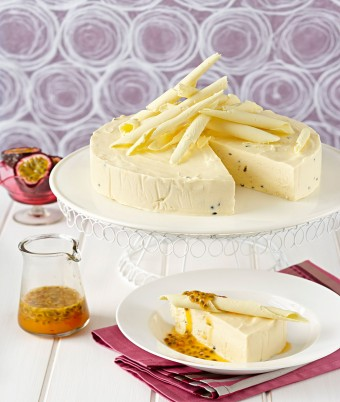 White Chocolate Passionfruit Ice Cream Cake