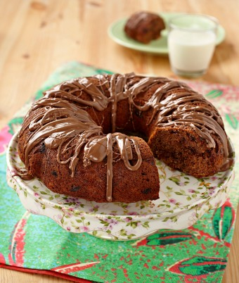 Double Choc Banana Sour Cream Cake