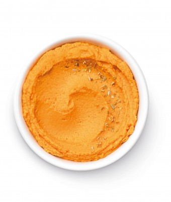 Chargrilled Capsicum Hummus - a quick and easy dip made with the Breville Boss blender