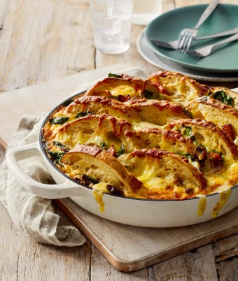 Best breakfast casserole with bread and bacon