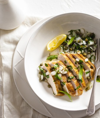 Chicken with Caper and Herb Salsa Recipe