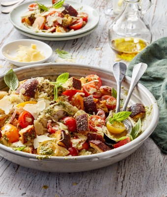 Chicken Pesto Panzanella Salad recipe