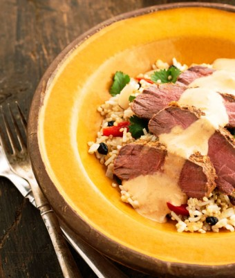 Garam Masala Lamb with Lemon Quinoa Pilaf