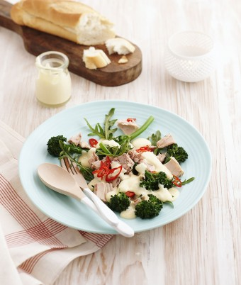 Three Cheese Tuna and Broccolini Warm Salad