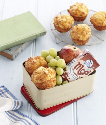 Cheesy Ham and Corn Puffs Kids lunchbox recipe