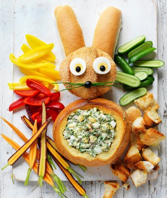 This Delicious Easter Bunny Cob with Egg Salad is So Easy to Make