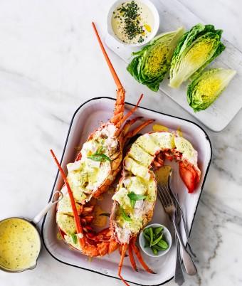 Fresh Australian Lobster recipe with Lemon and Tarragon Butter