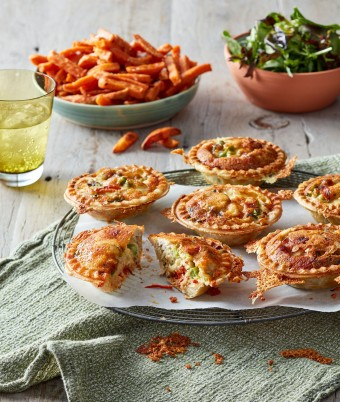 These easy pie maker chicken pies are cheesy veggie smuggler recipes.