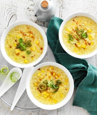 Easy egg drop soup with corn recipe