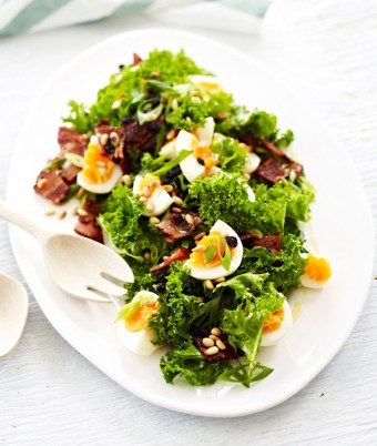 Kale, Bacon and Egg Salad