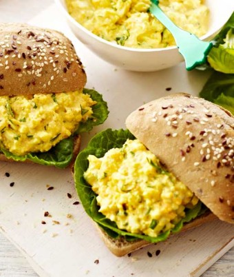 Curried Egg and Cos Rolls