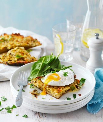 How to make Potato Rosti with poached eggs