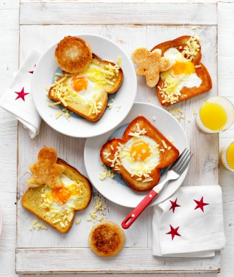 Fun Brekky Eggs in Toast