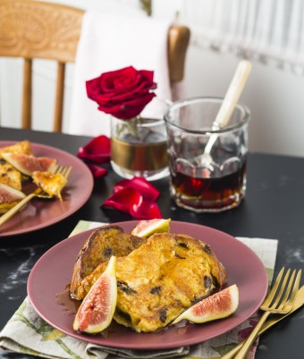 Valentine's Day Breakfast - French Toast with Cointreau Maple Syrup