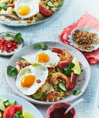 Nasi Goreng with Fried Eggs