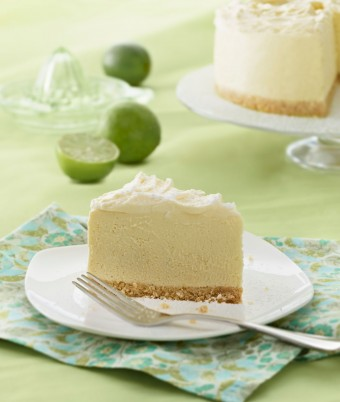 White Chocolate Lime Angel Cheesecake