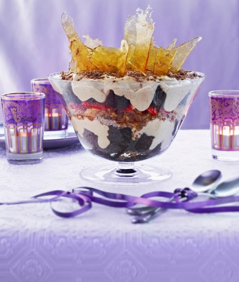 Chai, Toffee and Berry Trifle