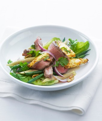 Beef Salad with Chilli, Mint and Coriander Dressing