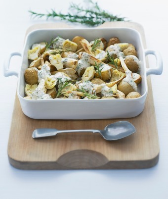 Warm Potato, Parsnip and Artichoke Salad