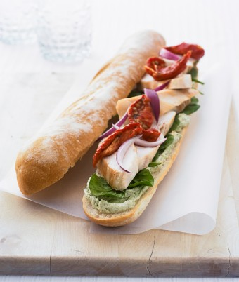 Pesto Chicken Baguette