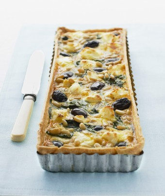 Spinach, Olive and Pine Nut Tart