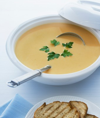 Roasted Sweet Potato and Garlic Soup