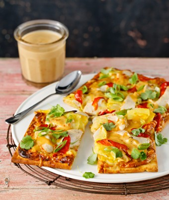 Satay Chicken Pizza