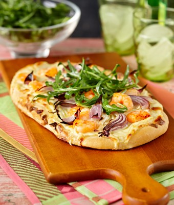 Fennel, Prawn and Red Onion Pizza