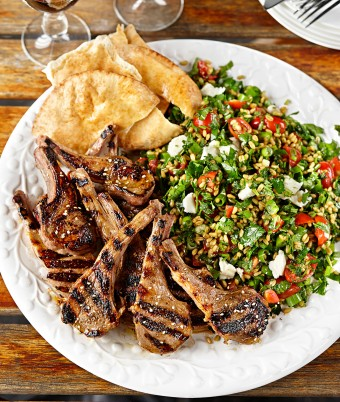 Za'atar Crusted Lamb Cutlets with Freekeh Tabbouleh