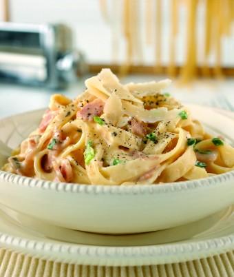 Fettuccine Alla Carbonara using KitchenAid Pasta Maker attachment